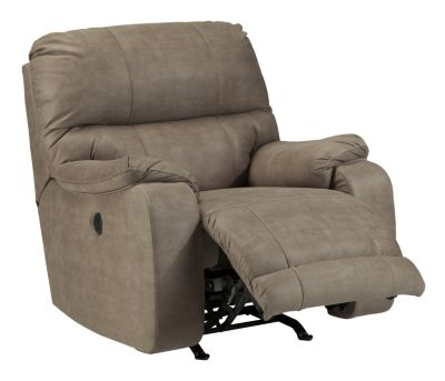 Ashley Bohannon Taupe Power Rocker Recliner