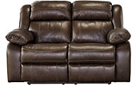 Ashley Branton Leather Power Reclining Loveseat