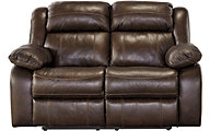 Ashley Branton Leather Reclining Loveseat