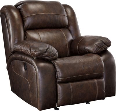 Ashley Branton Leather Power Rocker Recliner