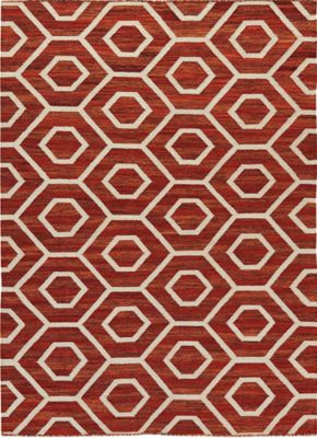 Ashley Flatweave Orange 5' x 8'