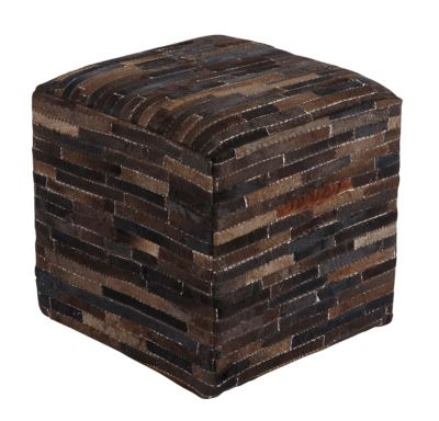 Ashley A10004 Collection Leather Pouf