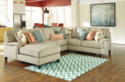 Ashley Kerridon 4-Piece Left-Side Chaise Sectional