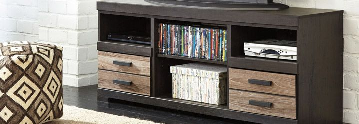 Tv stands consoles homemakers furniture des moines for Tv stand kids room