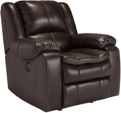 Ashley Long Knight Brown Rocker Recliner