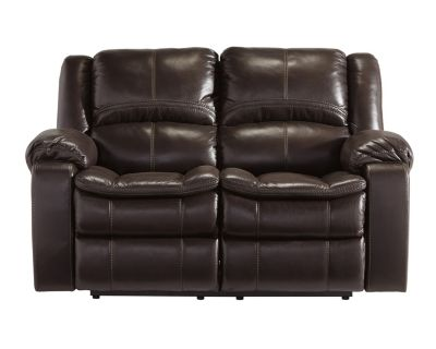 Ashley Long Knight Brown Power Reclining Loveseat