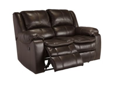 Ashley Long Knight Brown Reclining Loveseat