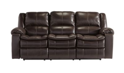 Ashley Long Knight Brown Power Reclining Sofa
