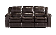 Ashley Long Knight Brown Reclining Sofa