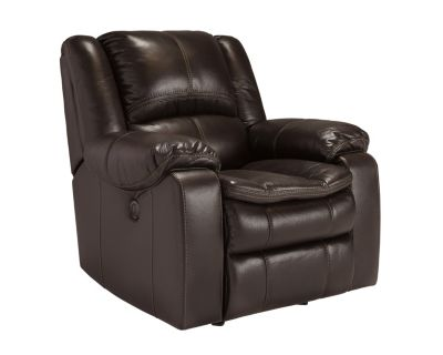 Ashley Long Knight Brown Power Rocker Recliner