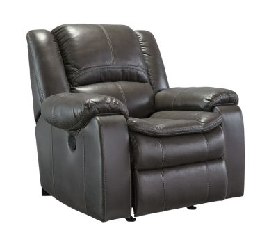 Ashley Long Knight Gray Power Rocker Recliner