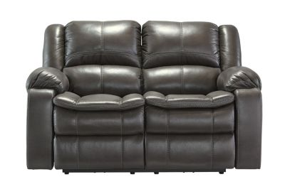 Ashley Long Knight Gray Power Reclining Loveseat