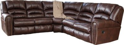 Ashley Manzanola Chocolate 2-Piece Reclining Sectional