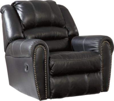 Ashley Manzanola Black Rocker Recliner