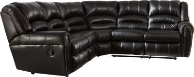 Ashley Manzanola Black 2-Piece Reclining Sectional