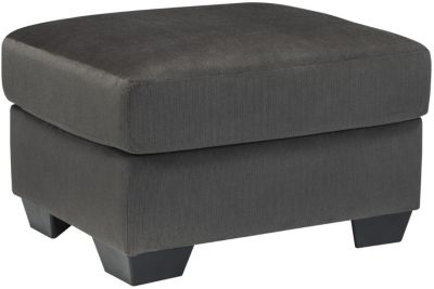 Ashley Kinlock Charcoal Ottoman