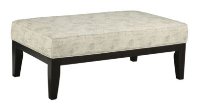 Ashley Baveria Script Ottoman