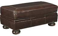 Ashley Banner Leather Ottoman