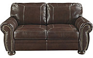 Ashley Banner Leather Loveseat