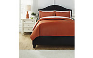 Ashley Raleda Orange 3-Piece Queen Coverlet Set