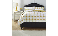 Ashley Cyrun Yellow 3-Piece Queen Duvet Cover Set