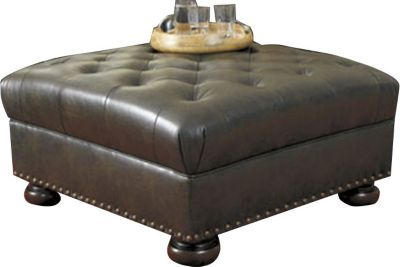 Ashley Nesbit Bonded Leather Ottoman