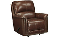 Ashley Lacotter Leather Rocker Recliner