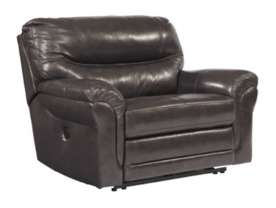 Ashley Banetonville Leather Power Wide Recliner