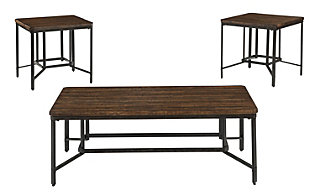 Ashley Newelk Coffee Table & 2 End Tables