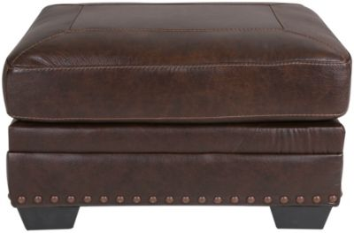 Ashley Corvan Leather Ottoman