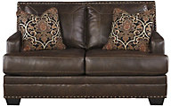 Ashley Corvan Leather Loveseat