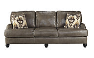 Ashley Kannerdy Leather Queen Sleeper Sofa