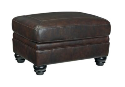 Ashley Bristan Leather Ottoman