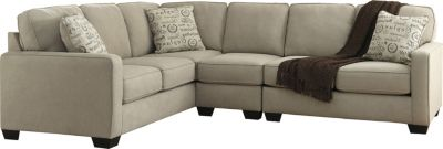 Ashley Alenya Quartz Left-Side Sofa 3-Piece Sectional