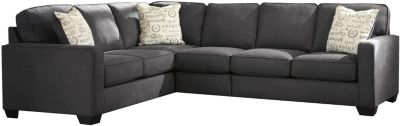 Ashley Alenya Charcoal Left-Side Sofa 3-Piece Sectional