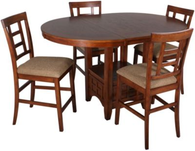 Ashley Cross Island 5-Piece Counter Set