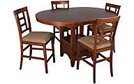 Ashley Cross Island Counter Height 5-Piece Dining Set