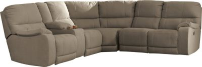 Ashley Bohannon Taupe 3-Piece Power Reclining Sectional