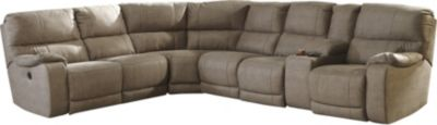 Ashley Bohannon Taupe 4-Piece Power Reclining Sectional
