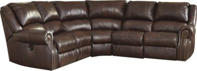 Ashley Collinsville 5-Piece Power Leather Sectional