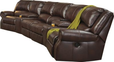 Ashley Collinsville 6-Piece Power Leather Sectional