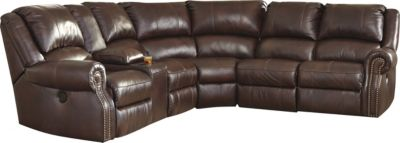 Ashley Collinsville 6-Pc Power Recline Leather Sectional