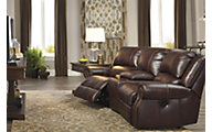 Ashley Collinsville 3-Piece Leather Sectional
