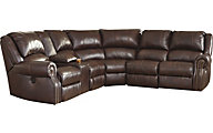 Ashley Collinsville 6-Piece Leather Sectional