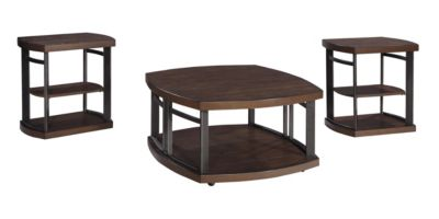 Ashley Challiman Coffee Table & 2 End Tables