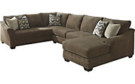 Ashley Justyna 3-Piece Right-Side Chaise Sectional