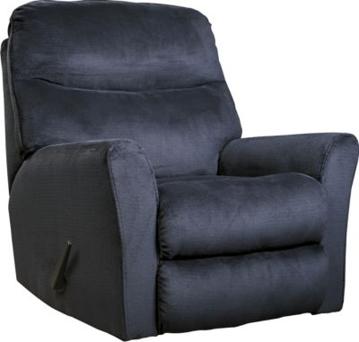 Ashley Cossette Blue Rocker Recliner