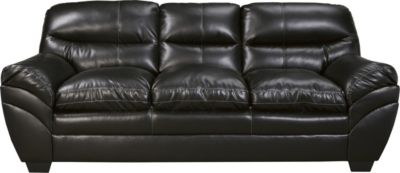 Ashley Tassler Black Bonded Leather Sofa