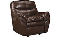 Ashley Tassler Coffee Bonded Leather Rocker Recliner