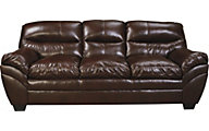 Ashley Tassler Coffee Bonded Leather Sofa